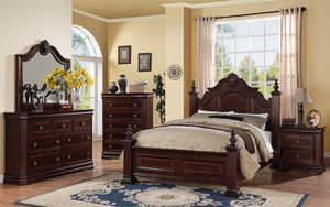 Charlotte Collection Bedroom set in Dark Brown for Sale in Naples, FL