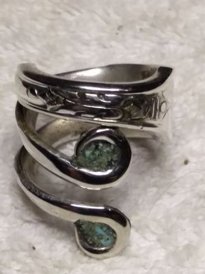 Handcrafted turquoise size 8 ring for Sale in Willow Street, PA