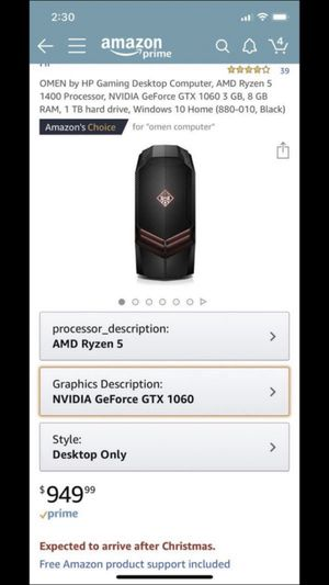 Omen Gaming Desktop for Sale in Phoenix, AZ
