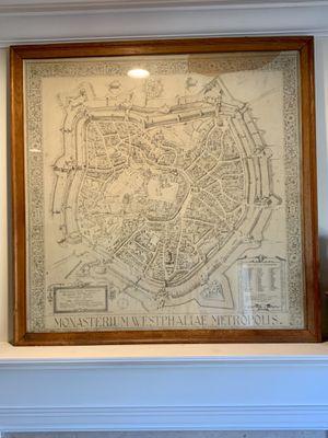 Large Vintage Map Of Munster Westphalia, Framed Under Glass for Sale in Alexandria, VA