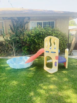 little tikes playground slide and kids pool for Sale in Fontana, CA