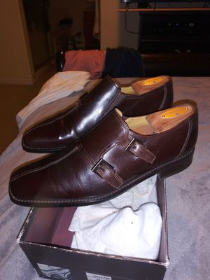 MEN'S SIZE (9) **NORDSTROM EXCLUSIVE** MEZLAN (BROWN MONK STRAP) ALL LEATHER DRESS SHOE for Sale in San Leandro, CA