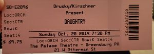 Concert tickets for Sale in BRUSHY FORK, WV