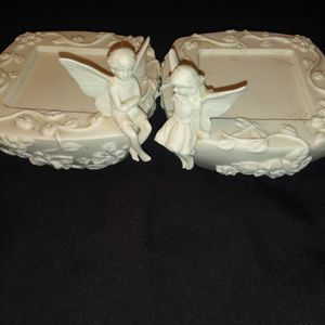 CANDLE HOLDERS-PORCELAIN. 2 FOR $10 for Sale in Baldwin Park, CA