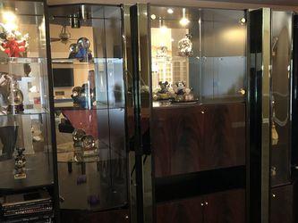 6 Piece Black lacquer & Glass Entertainment/Curio Cabinet for Sale in Geneva,  FL