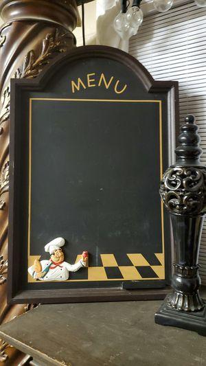 Chef chalkboard for Sale in Lubbock, TX