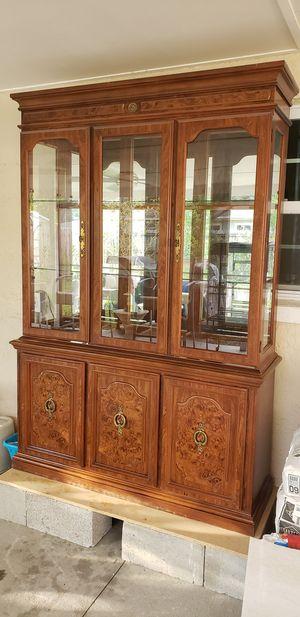 Antique Vitrine Showcase Cabinet for Sale in Bradenton, FL