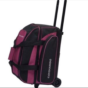 The Commando 2 Ball Double Roller Bowling Bag for sale  PINK for Sale