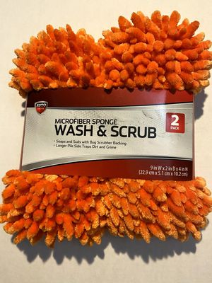 Microfiber car wash sponge 2 pack. Brand new never opened. for Sale in Sacramento, CA