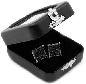 New Men's/Women's Black Princess Cut Square CZ Basket Screw Back Stud Earrings for Sale in Fresno, CA
