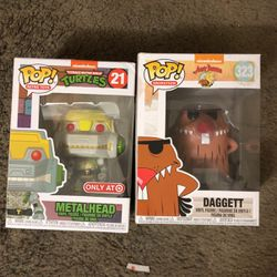 2 Funko Pop Toy Action Figures ( TMNT And Angry Beavers ) In Box for Sale in Moreno Valley,  CA