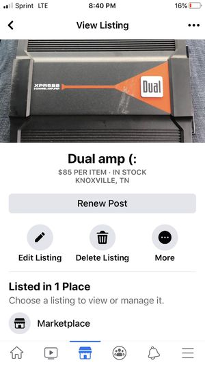 Dual amp and sub for Sale in Knoxville, TN