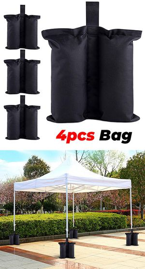 Brand new $10 (Pack of 4) Canopy Weight Bags for EZ Pop Up Tents (Bag only, Sand and Tent not included) for Sale in Pico Rivera, CA