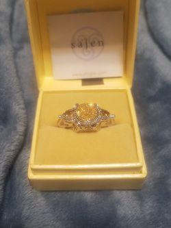 Sajen Silver Gold Druzy Ring for Sale in Geneva,  FL