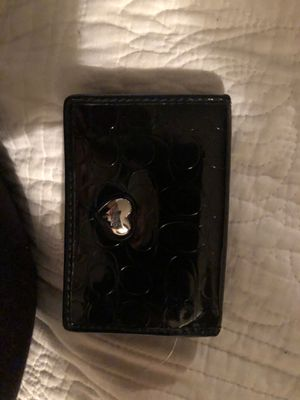 Small patent leather coach wallet for Sale in Inwood, WV
