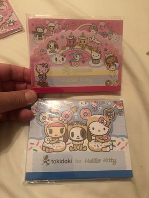 Tokidoki for hello Kitty note pads 90 sheets ea/$3 ea for Sale in Las Vegas, NV