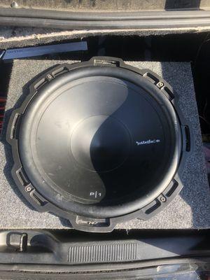 """P1 Rockford fosgate 15"""" inch sub- 150. 2500 watt audiopipe amp -200. 2200 watt power acoustik amp -100 for Sale in Jacksonville, FL"""