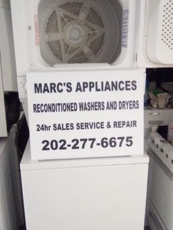Kenmore 27 Inch Heavy Duty Stack Washer Dryer With Turbo Wash Cycle Works Good 90 Day Warranty Delivery Available for Sale in Washington,  DC