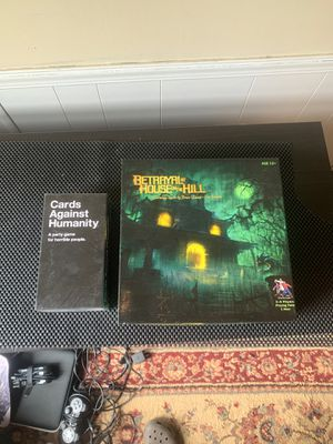 Cards against humanity and betrayal at house on the hill board games! for Sale in St. Cloud, FL