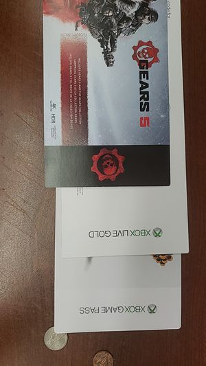 All of the gears of war from 1 to 5 1 month of gamepass and gold for Sale in Newport News, VA