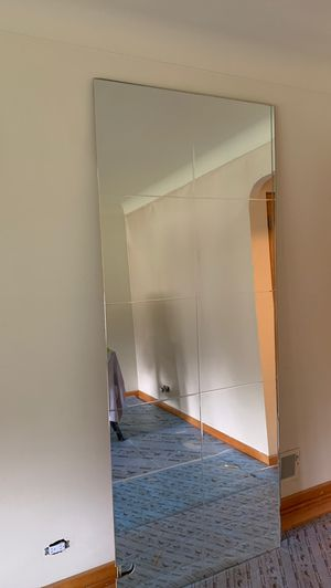 THREE —FREE— 35 x 87 1/4 mirror panels for Sale in North Riverside, IL