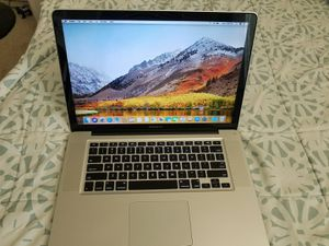Macbook Pro 15inch Early 2011 with Intel core i7 processor, 8gb Ram, 256gb SSD drive, macOS High Sierra. Comes with charger. New battery. for Sale in Jacksonville, FL