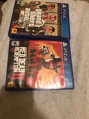 GTA & red dead redemption for Sale in Hesperia, CA