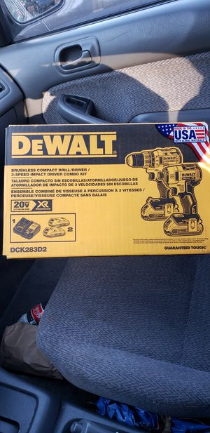 DEWALT 20-Volt MAX XR Lithium-Ion Cordless Brushless Drill/Impact Combo Kit (2-Tool) with (1) Battery 2Ah and (1) Battery 4Ah for Sale in Bay Point, CA