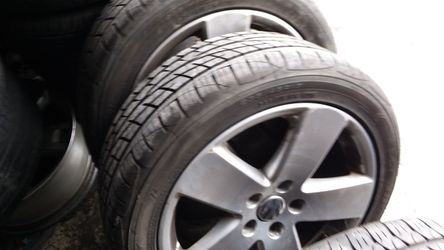 235/45/17 with jetta rims for Sale in Los Angeles,  CA