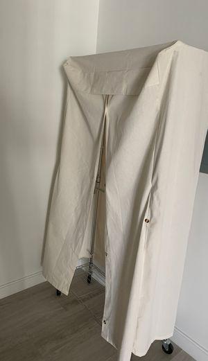 AmazonBasics Double Hanging Rod Garment Rolling Closet Organizer Rack, Chrome for Sale in Miami, FL