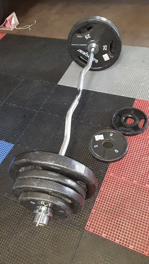 Olympic EZ curl bar / gym / pesas / weights / gymnasio for Sale in Mesquite, TX
