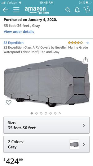 S2 Expedition Motorhome Cover PRICE LOWERED for Sale in Arlington, WA