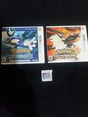 Pokemon Game Bundle for Nintendo 3DS/2DS for Sale in Concord, VA