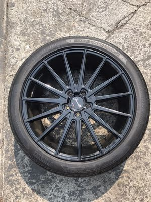 Gianelle 20 Inch Black Wheels Fits Audi A4 A5 S4 S5 A6 A7 A8 Q5 20 +35 5x112 Rims Set 4 for Sale in Vallejo, CA