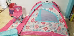 Tent Canopy sleeping bag Chair set for Sale in Sugar Land, TX