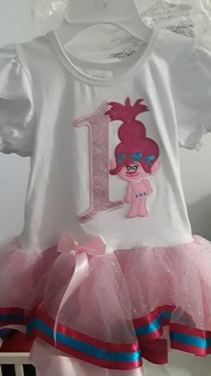 1st birthday troll dress for Sale in Downey, CA