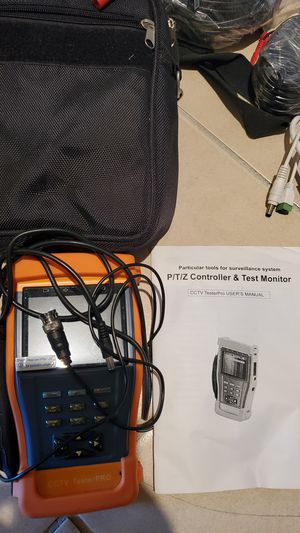Security camera equipment and accessories. PTZ controller and test monitor for Sale in Rosenberg, TX