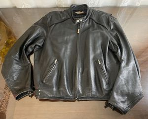 POWER TRIP MOTORCYCLE 100% LEATHER JACKET MEN'S XL LINED PADDED REFLECTIVE for Sale in Canby, OR