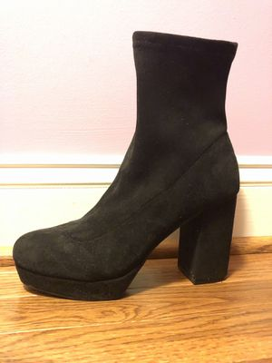 Black Heeled Suede Boots for Sale in Ashburn, VA