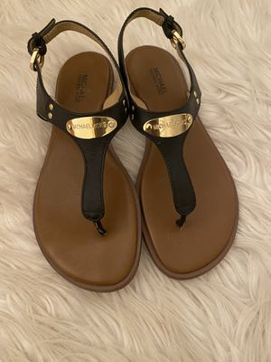 Michael Kors Sandals Size 6.5 Black Leather for Sale in Chicago, IL