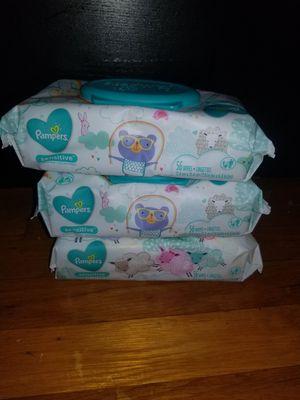 3 packs Pampers wipes for Sale in Glenarden, MD