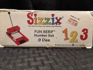 Sizzix Original Die-Cut Fun Serif Number Set for Sale in San Diego, CA