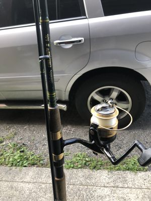 Fishing pole with reel 9ft for Sale in Yonkers, NY
