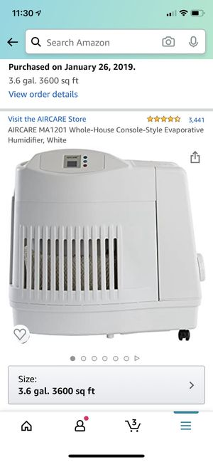 Aircare Whole-House Console Humidifier (3600 sq feet) for Sale in St. Louis, MO