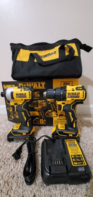 DEWALT ATOMIC 20-Volt MAX Lithium-Ion Brushless Cordless Compact Drill/Impact Combo Kit (2-Tool) 2 Batteries 1.3Ah and Charger for Sale in Bakersfield, CA