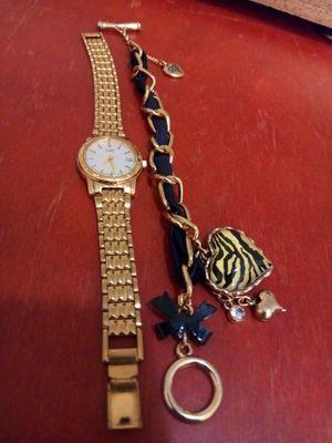 Betsy Johnson Charm Bracelet and Citizen watch for Sale in Glendale, AZ