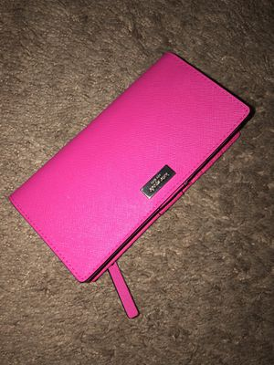 Kate Spade Hot Pink Bifold Wallet for Sale in Rialto, CA
