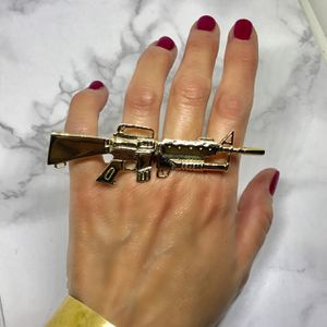 Melody Ehsani X Jeremy Scott M16 Two Finger Ring for Sale in St. Louis, MO