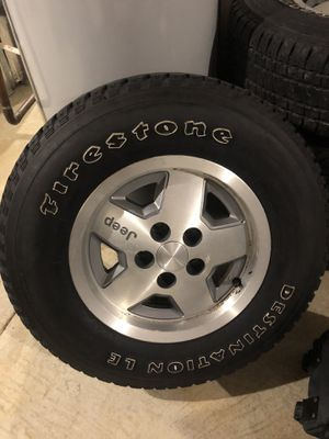Wrangler TJ wheels and tires for Sale in Laurel, MD