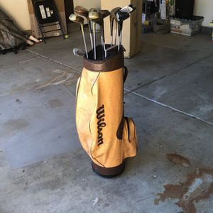 Golf Clubs with Wilson Bag for Sale in Loma Linda, CA